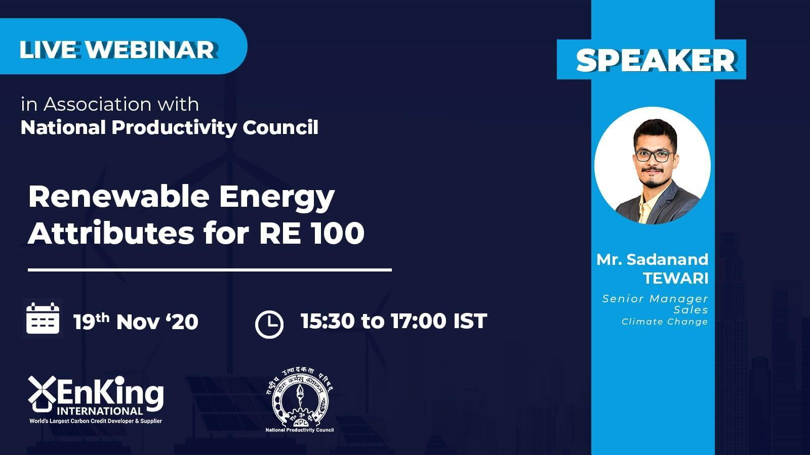 Renewable Energy Attributes For RE 100